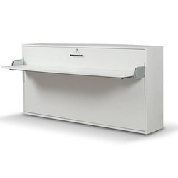 White Single Wall Bed With Desk