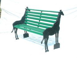 Indian Garden Furniture - Garden Cast Iron Ends Wooden Seat Bench