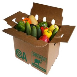 Paper Printed Cardboard Vegetable Box