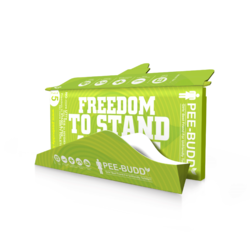 Green Cardboard PeeBuddy Disposable Female Urination Device for Women, For Use And Throw