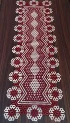 Bhavya Creations Red Moti Work Table Runner, For Casual, Size: 12*36