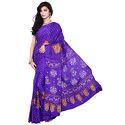 Print Bandhej Lavender Saree