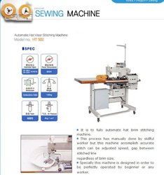 cap visior sewing machine
