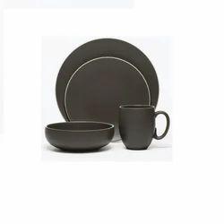 Ceramic Black Matte Dinner Set