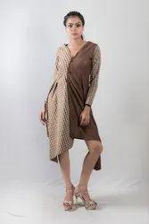 Women Shrugs Checkered Dress