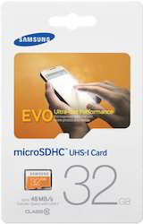 Samsung Evo 32GB Class 10 Micro SDHC Card Upto 48 Mbps, MP3 Player And Video Game Console