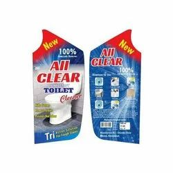 PVC Multicolor Toilet Cleaner Stickers, Packaging Type: Packet