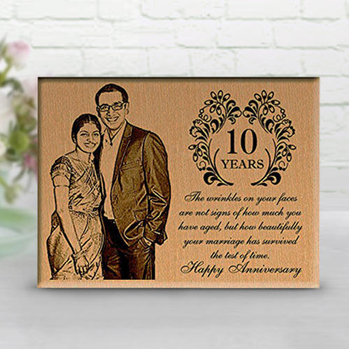 Personalized Wooden Plaque For 10th Wedding Anniversary At Rs 740 Piece Wood Plaque Id 15406797488