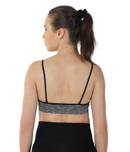 56900345e20e9 Strechable Velvet Attire Free Size Black Color Sports Bra
