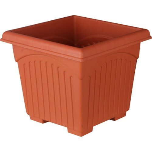 12 Inch Plastic Square Planter Brown Chaukor Gamla