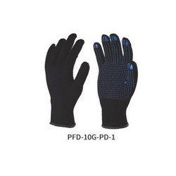 Polyester Knitted Seamless Gloves with PVC Dots