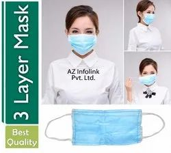Disposable Surgical Mask with Hook-Ear Anti-Dust Anti-Bacterial Respirator Mask