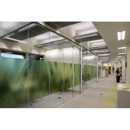Transparent Glass Partition Wall, Shape: Rectangular