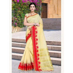 fa8485ac3d4470 Fancy Cotton Saree at Rs 2400  piece