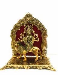 Bharat Handicrafts Gold Plated Durga Mata Statue