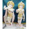 Pashan Kala White Stone Radha Krishna, For Worship