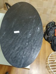 SGM Black Marble Oval Tabletop