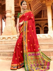 Silk Party Wear Paithani Saree