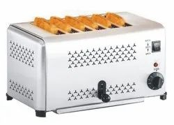 Stainless Steel Popup Toaster for Commercial, Number Of Slices: 4 Slice, 6 Slice