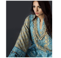 Blue with Golden Work Salwar Kameez