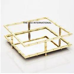 Metal Golden Tray