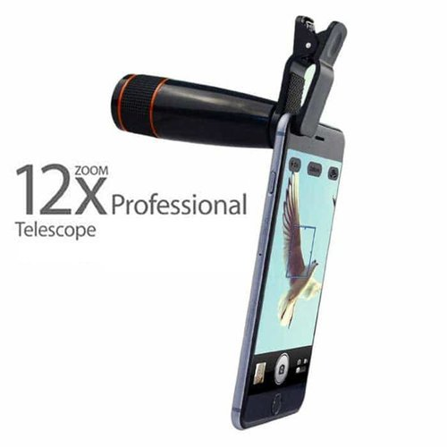 12x Telephoto Lens, Mobile Phone Optical Zoom/ Telescope Camera Lens For  All Android & Ios Smartphon