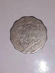 Indian Nickel 1 Anna Coin 1916