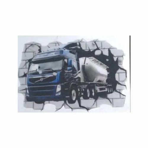 PVC Truck Printed Dome Sticker