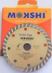 Mokshi 4 Inch Turbo Flap Diamond Saw Blade, For Marble & Granite Cutting