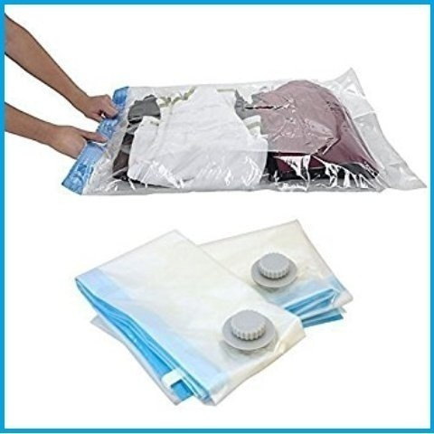 White Transparent Zipper Storage Bags