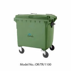 Rectangular HDPE Orchids Plastic Wheel Dustbin (1100 Liters)