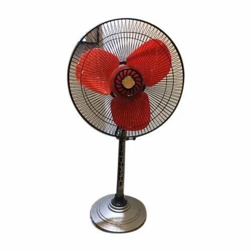 Floor Red Blade Pedestal Fans For