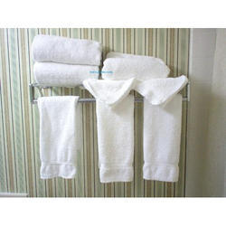White Cotton Hand Towels, Size: 24 x 17 Inch