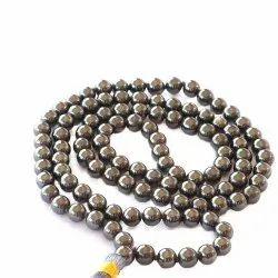 Soulgenie Silvery Black Hematite Mala Beads