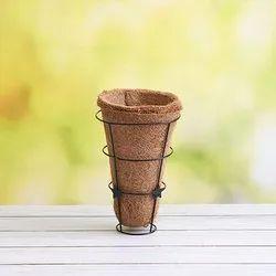 Coir Garden 5 Inch Conical Coir Hanging Basket