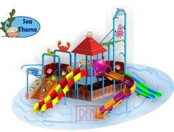 Water Slide Multi Play Station With Sea Theme