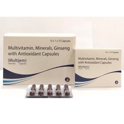 Multivitamin Minerals Ginseng With Antioxidant Capsules
