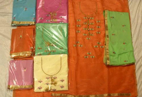 Punjabi Suit Cotton Embroidered Punjabi Suit Manufacturer From