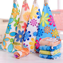 Multicolor Cotton Printed Towel, Size: 27x54 cm