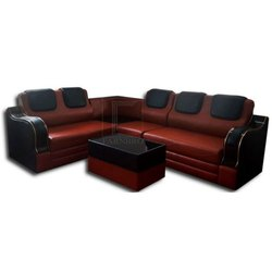 Farnbro Brown and Black Leather Sofa Set, for Home, Tight Back