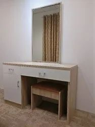 White Rectangular Plywood Chest of Drawer / Dressing Table for Home