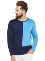Men Full Sleeve Solid Round Neck T-Shirt