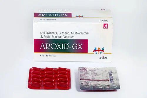 Aroxid-gx Anti Oxidants,Ginseng, Multivitamin & Multi Mineral Capsule, Packaging Type: Box, 5x2x15 Capsules