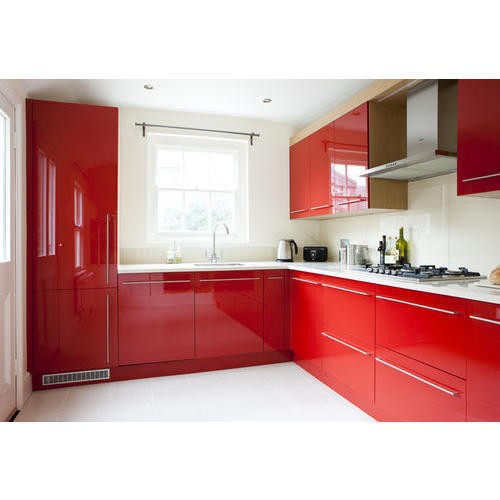 Red Modular Kitchen At Rs 1800 /square Feet