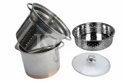 Copper Bottom Pasta Cooker Set- 4 Pcs