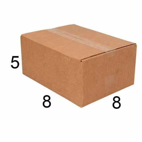 Rectangle 8 x 8 x 5 inch Corrugated Carton Box
