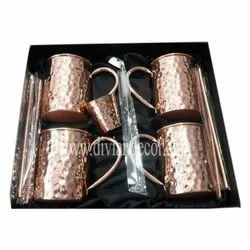 Copper Hammered Beers Mug