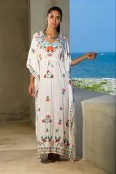 Boho Collection Stylish Embroidery Kaftan