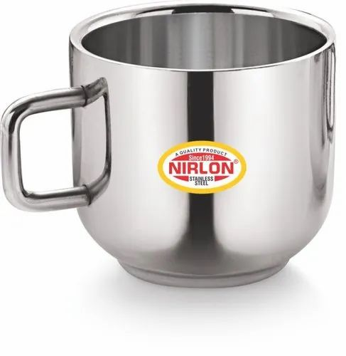 Nirlon Stainless Steel Apple Plain Tea Cups