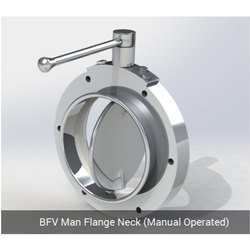 BFV Man Flange Neck - Manual Operated
